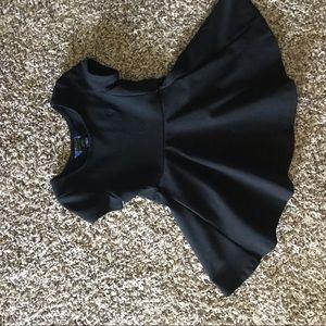 Polo black twirl dress